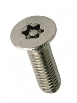 Countersunk 6-Lobe Pin Machine Screw A2