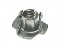 Pronged Tee Nuts Steel Bright Zinc Plated