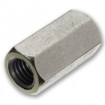 Hexagonal Stud Connector Nuts Steel Bright Zinc Plated
