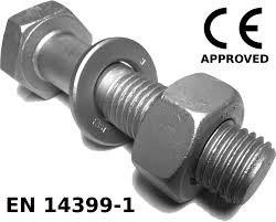 M12 x 40mm Hex Set Screw 8.8 C/W N W HDG