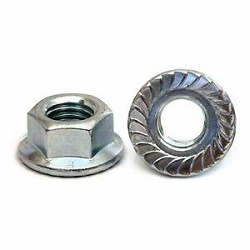 M10 Hex Flanged Nut Steel 8.8 BZP