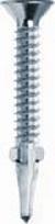 4.8 Ø x 50mm Csk Winged   Ribbed Drill Screw