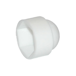 M6 Nut Cap Plastic White