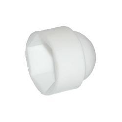 M8 Nut Cap Plastic White