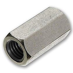 M8-1.25P Hexagonal Stud Connector BZP